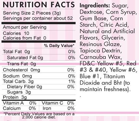 Rainbow-Gumballs-Nutritional